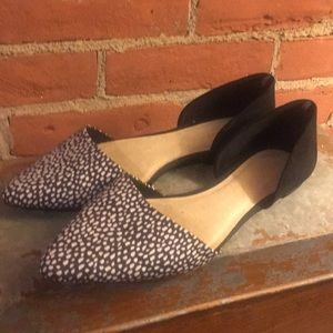 Splotted Pointed Toe Flats